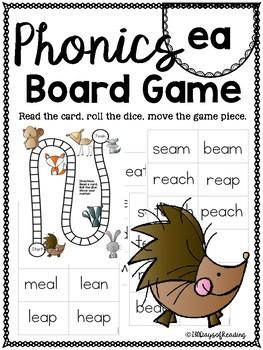 Vowel Team ea PHONICS BOARD Game