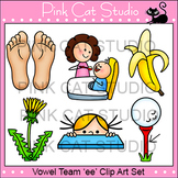 Long e Vowel Sound - Vowel Team 'ee' Phonics Clip Art Set - Commercial Use Okay