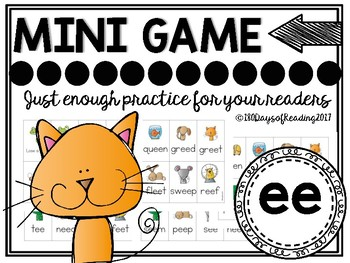 Vowel Team ee Phonics Mini Game
