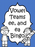 Vowel Team ee and ea Bingo