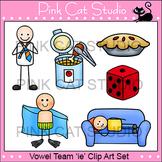 Long i Vowel Sound - Vowel Team 'ie' Phonics Clip Art Set - Commercial Use Okay