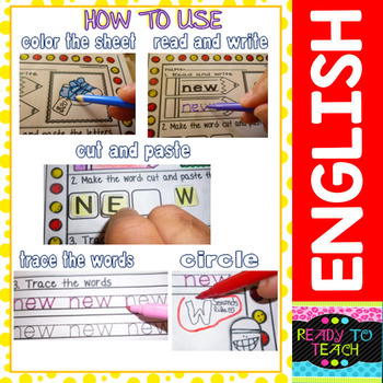Vowel Team (ie- igh - Y sounds like i) Printables (Color and B&W Versions)