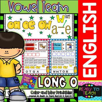 Vowel Team (oa-oe-ow / a-e-w sounds like o) Printables (Co