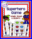 Vowel Team Game: Superhero Theme