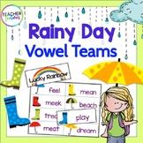 Vowel Teams & Silent E: Spring Rain Game