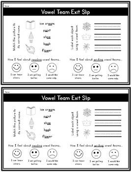 Vowel Teams: A Differentiated Read-the-Room