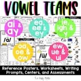 Long Vowel Teams Bundle: Worksheets, Reading Passage, Assessments and MORE!