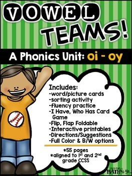 Vowel Teams! A Phonics Unit: oi - oy