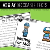 Vowel Teams AI and AY Decodable Readers and Passages