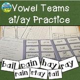 Vowel Teams AI and AY  Words Practice Unit