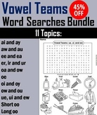Vowel Teams Activities Bundle: Color in Word Search