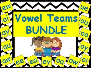 Vowel Teams BUNDLE: Worksheets, Games, and Activities (7 packs)