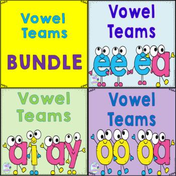 Vowel Teams BUNDLE: ee/ea  oo/oa  ai/ay