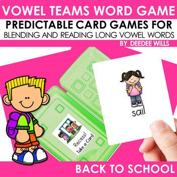 Vowel Teams:  Back to School Game