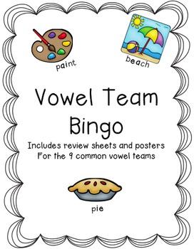 Vowel Teams Bingo & Poster Set