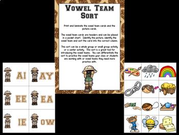 Vowel Teams Bootcamp Safari Edition
