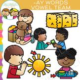 Vowel Teams Clip Art - AY Words