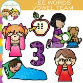 Vowel Teams Clip Art - EE Words