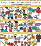 Vowel Teams Long Vowel Clip Art Mega Bundle