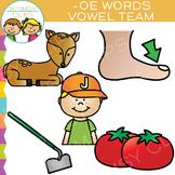 Vowel Teams Clip Art - OE Words