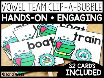 Vowel Teams Clip-a-Bubble