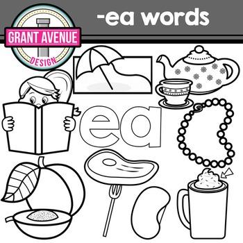 "Vowel Teams Clipart - ""ea"" Vowel Team Clip Art - Phonics Clipart"