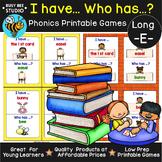 "Long E Game ""I have, who has?"" (ea, ee, ie, ey, y, e_e)"