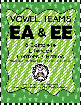 Vowel Teams EA and EE Literacy Centers