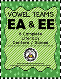 Vowel Teams EA and EE Literacy Centers