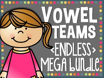 Vowel Teams ENDLESS MEGA BUNDLE