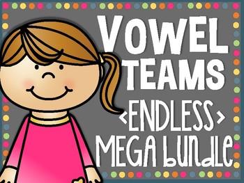 Vowel Teams ENDLESS MEGA BUNDLE