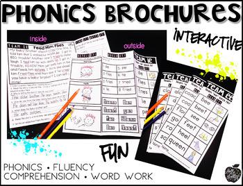 Vowel Teams Fluency Passage and Word Work FREEBIE - Phonics Brochures