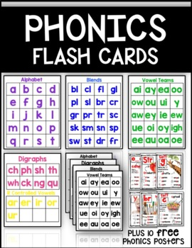 Vowel Teams Flash Cards