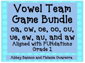Vowel Teams Games Bundle #2