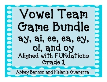 Vowel Teams Games Bundle #1