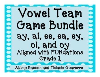 Vowel Teams Games Bundle #1