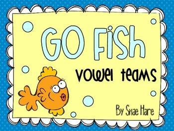 Vowel Teams {Go Fish} Word Work [Reading] Station Center Game