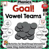 Vowel Teams - Goal! A Hockey Themed Vowel Team Activity