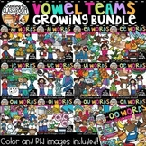Vowel Teams Clipart Growing Bundle {Phonics Clipart}