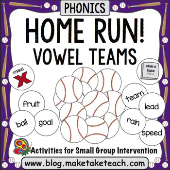 Vowel Teams - Home Run!