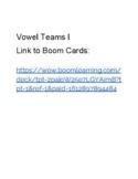 Vowel Teams I Boom Cards