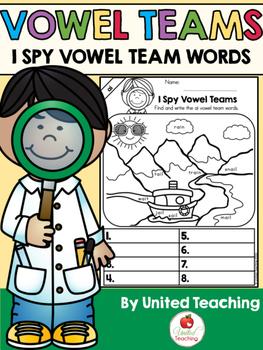Vowel Teams: I Spy Vowel Team Words Bundle