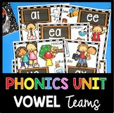 Vowel Teams - Kindergarten - First and Second Grade Phonics Unit - Long Vowels