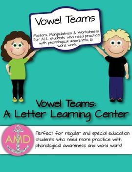 Vowel Teams- Letter Learning Center CCSS Aligned