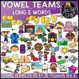 Vowel Teams - Long e  Clip Art Bundle {Educlips Clipart}