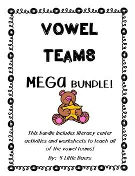 Vowel Teams MEGA Bundle! ALL VOWEL TEAMS! Sorting Centers & Practice Worksheets