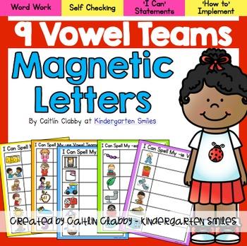 Vowel Teams-Magnetic Letters