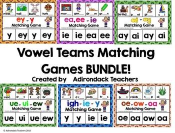 Vowel Teams Matching Games BUNDLE