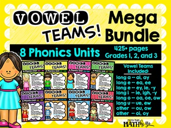 Vowel Teams! Mega Bundle: 8 Phonics Units