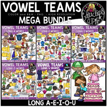 Vowel Teams Mega Bundle {Educlips Clipart}